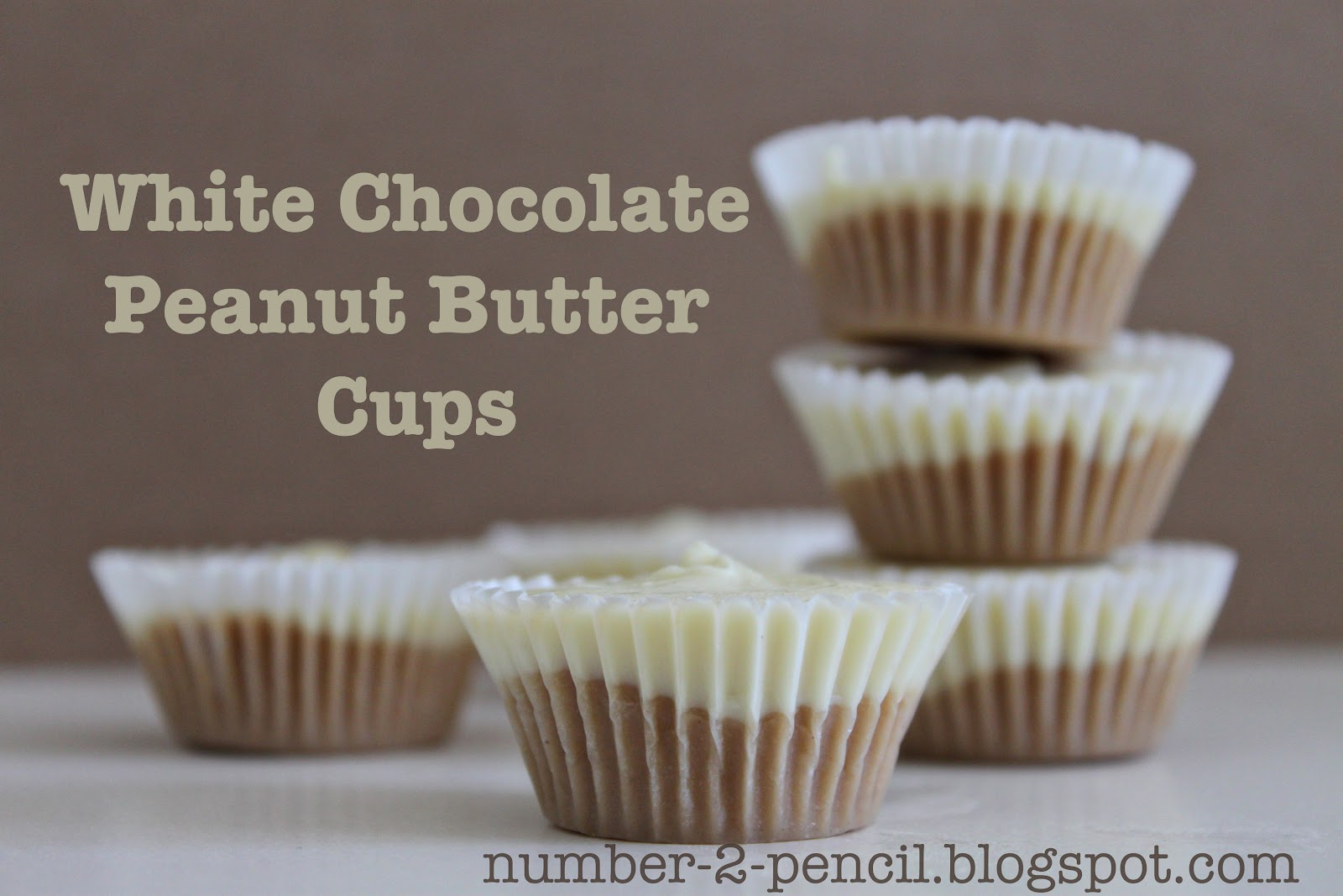 Easy White Chocolate Peanut Butter Cups - No Bake - No  2 Pencil