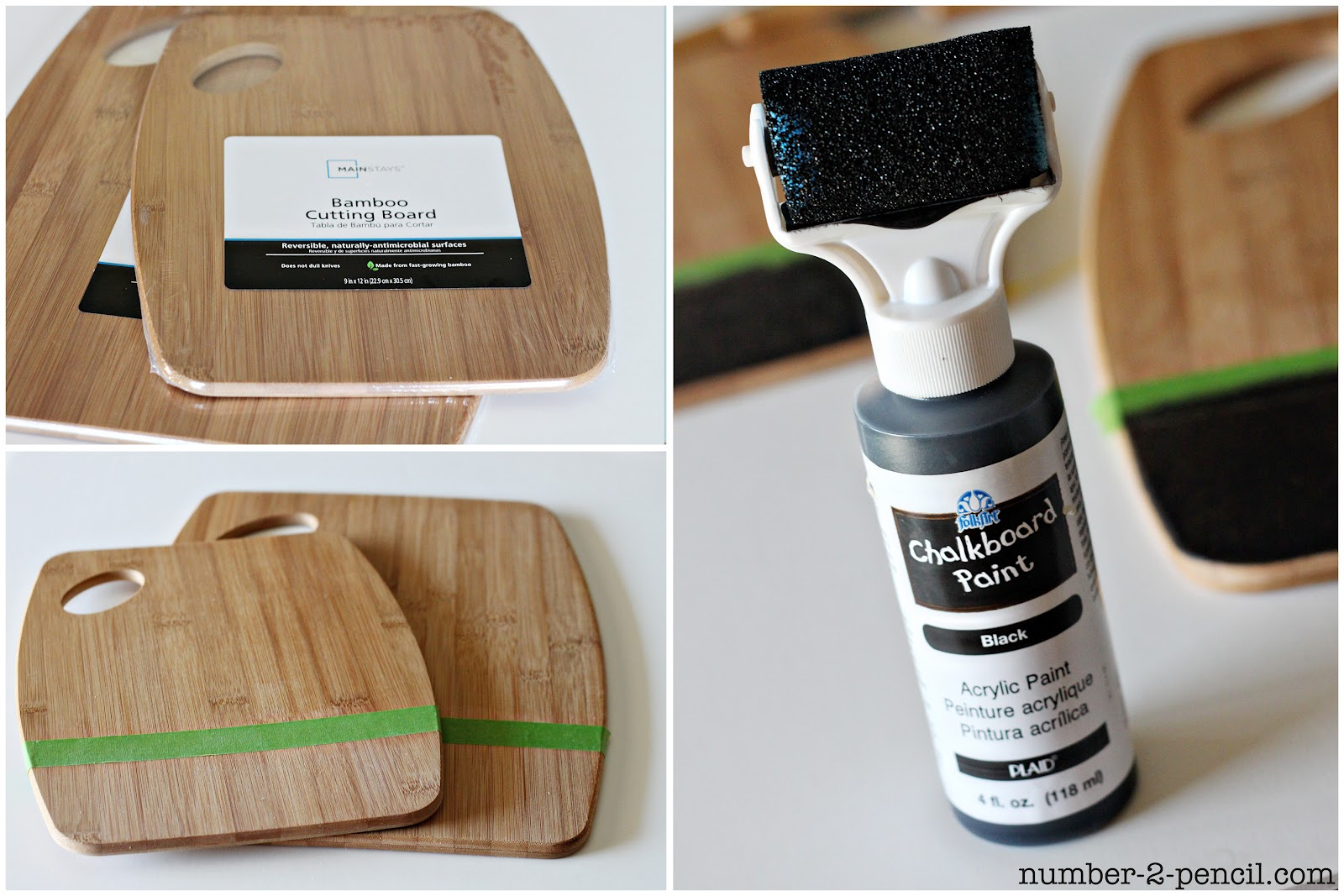 DIY Painted Wood Spoons and Chalkboard Kitchen Accessories - No. 2
