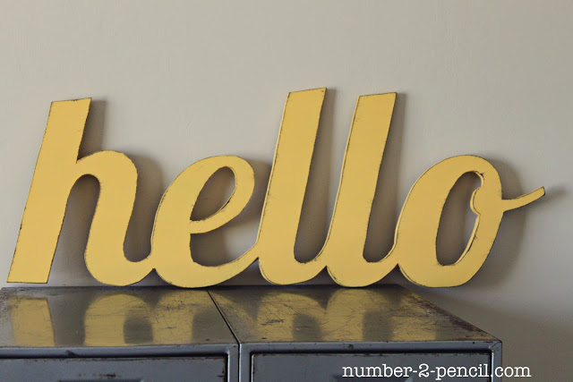 DIY Jigsaw Hello Sign