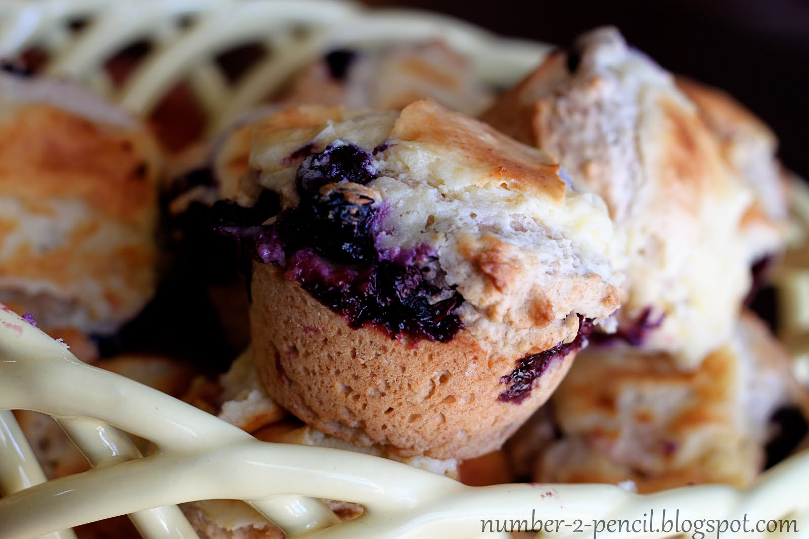 Blueberry Cream Cheese Muffins - No. 2 Pencil