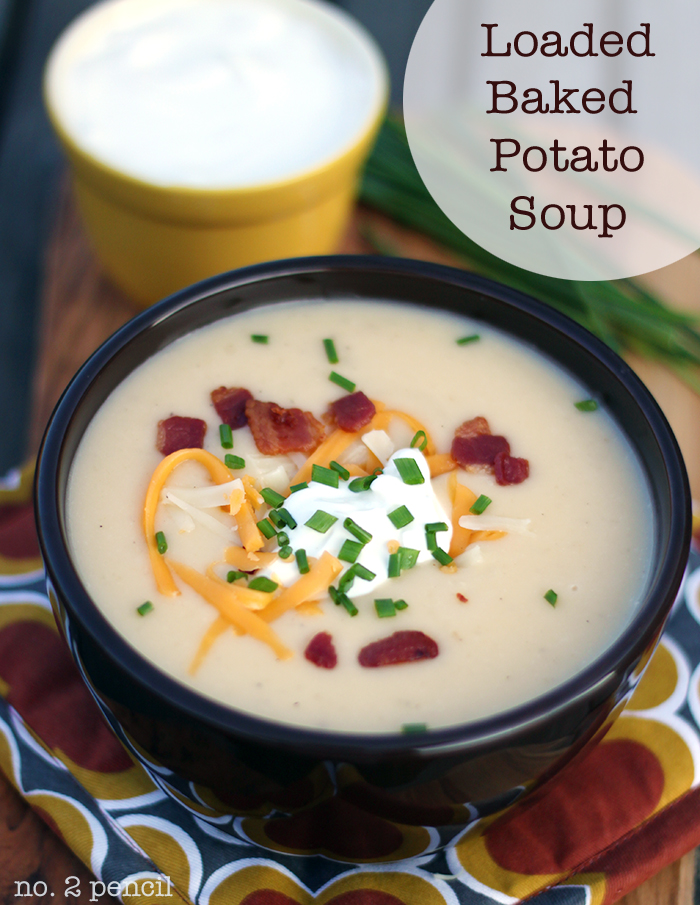 ... winter blues away with cozy soups, like my Loaded Baked Potato Soup