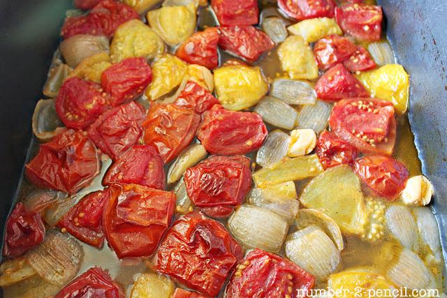 Roasted Tomato Soup with Parmesan Popcorn