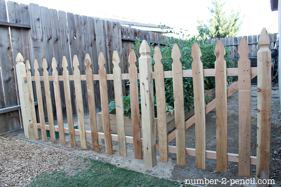 Build an easy diy garden fence no 2 pencil Building a fence
