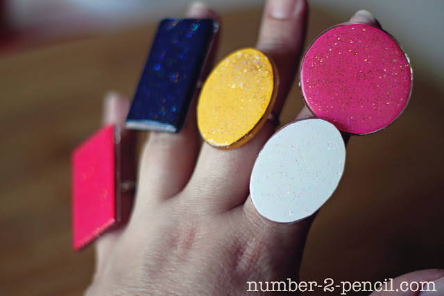 DIY Mod Podge Statement Ring made with Mod Podge Dimensional Magic
